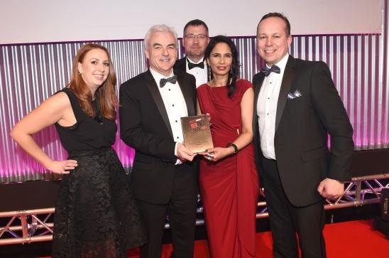 Barclays presenting an award at #RRA17