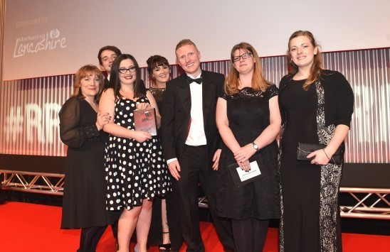 Marketing Lancashire Present a trophy at  #RRA17